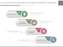 Line Up And Record Development Template Presentation Visual Aids