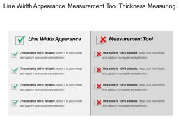 Line Width Appearance Measurement Tool Thickness Measuring Instrument