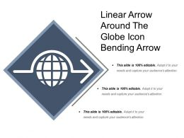 Linear Arrow Around The Globe Icon Bending Arrow
