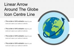 Linear Arrow Around The Globe Icon Center Line