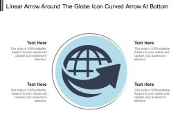 Linear Arrow Around The Globe Icon Curved Arrow At Bottom