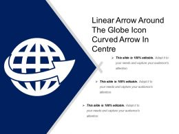 Linear Arrow Around The Globe Icon Curved Arrow In Center