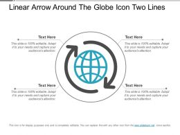 Linear Arrow Around The Globe Icon Two Lines