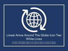 Linear Arrow Around The Globe Icon Two White Lines