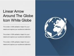 Linear Arrow Around The Globe Icon White Globe