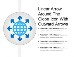 Linear Arrow Around The Globe Icon With Outward Arrows