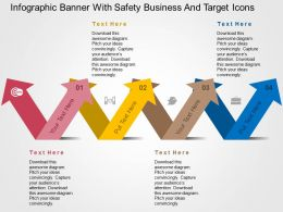 Linear Arrow For Business Application Flat Powerpoint Design