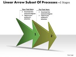 Linear Arrow Subset Of Processes 2 Stages Making Flowchart Powerpoint Slides