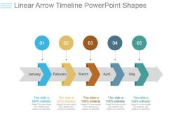 Linear Arrow Timeline Powerpoint Shapes