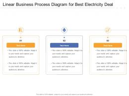 Linear Business Process Diagram For Best Electricity Deal Infographic Template