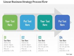 Linear Business Strategy Process Flow Flat Powerpoint Design