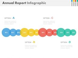 Linear Chart For Annual Report Infographics Powerpoint Slides