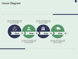 Linear Diagram C1484 Ppt Powerpoint Presentation Portfolio Deck