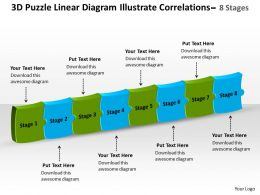 linear_diagram_illustrate_correlations_8_stages_process_flow_chart_template_powerpoint_templates_Slide01