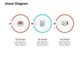 Linear Diagram M109 Ppt Powerpoint Presentation Infographic Template Slides