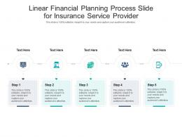 Linear Financial Planning Process Slide For Insurance Service Provider Infographic Template