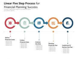 Linear Five Step Process For Financial Planning Success