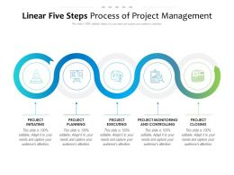 Linear Five Steps Process Of Project Management