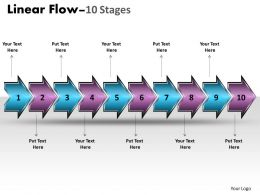 Linear Flow Arrow 10 Stages 16