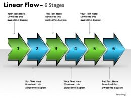 Linear Flow Arrow 6 Stages 32