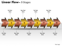Linear Flow Arrow 9 Stages 17