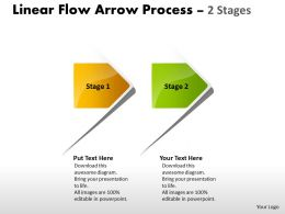 Linear Flow Arrow Process 2 Stages 40