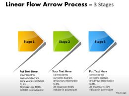 Linear Flow Arrow Process 3 Stages 49