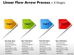 Linear Flow Arrow Process 4 Stages 82