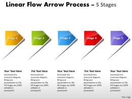 Linear Flow Arrow Process 5 Stages 79