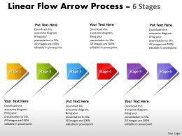 Linear Flow Arrow Process 6 Stages 62