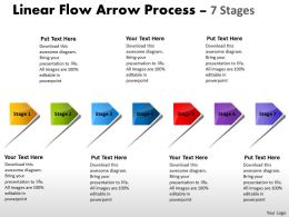 Linear Flow Arrow Process 7 Stages 45
