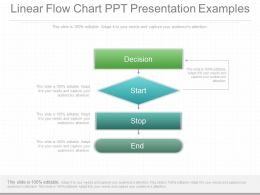 Linear Flow Chart Ppt Presentation Examples
