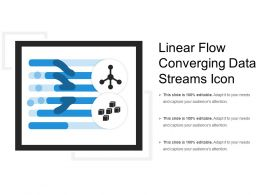 Linear Flow Converging Data Streams Icon