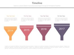 Linear Flow For Year Based Funnel Timeline Powerpoint Slides