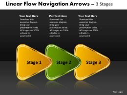 Linear Flow Navigation Arrow 3 Stages 51