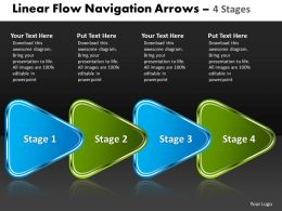 Linear Flow Navigation Arrow 4 Stages 84