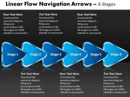 Linear Flow Navigation Arrow 6 Stages 63