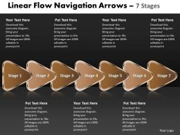 Linear Flow Navigation Arrow 7 Stages 46
