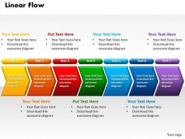 Linear Flow Power Point PowerPoint Template Slide