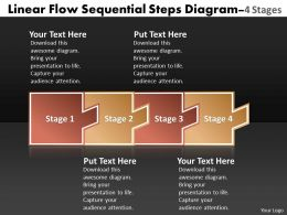 Linear Flow Sequential Steps Diagram 4 Stages Oil Chart Powerpoint Templates