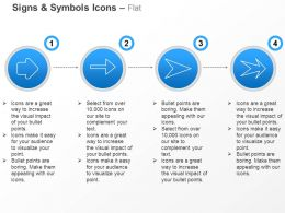 Linear Flow Unidirectional Arrow Ppt Icons Graphics