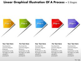 Linear Graphical Illustration Of Process 5 Stages Flow Chart Powerpoint Slides