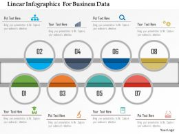 Linear Infographics For Business Data Powerpoint Template