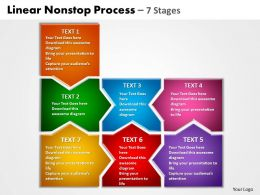 linear nonstop process 7 stages powerpoint templates graphics slides 0712