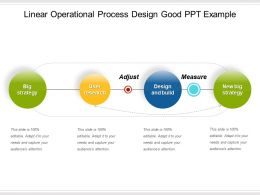Linear Operational Process Design Good Ppt Example