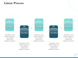 Linear Process Audiences Attention Ppt Powerpoint Presentation Guidelines