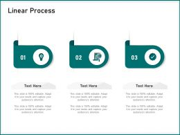 Linear Process Audiences Attention Ppt Powerpoint Presentation Infographic Template