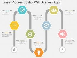 Linear Process Control With Business Apps Flat Powerpoint Design