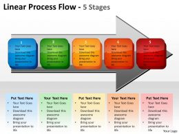 Linear Process Flow 5 Stages 9