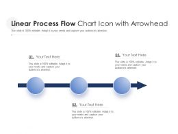 Linear Process Flow Chart Icon With Arrowhead
